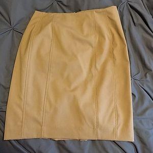 Express pencil skirt, camel color / tan